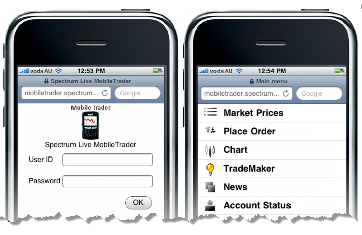 Spectrum Live Mobile Trading Application